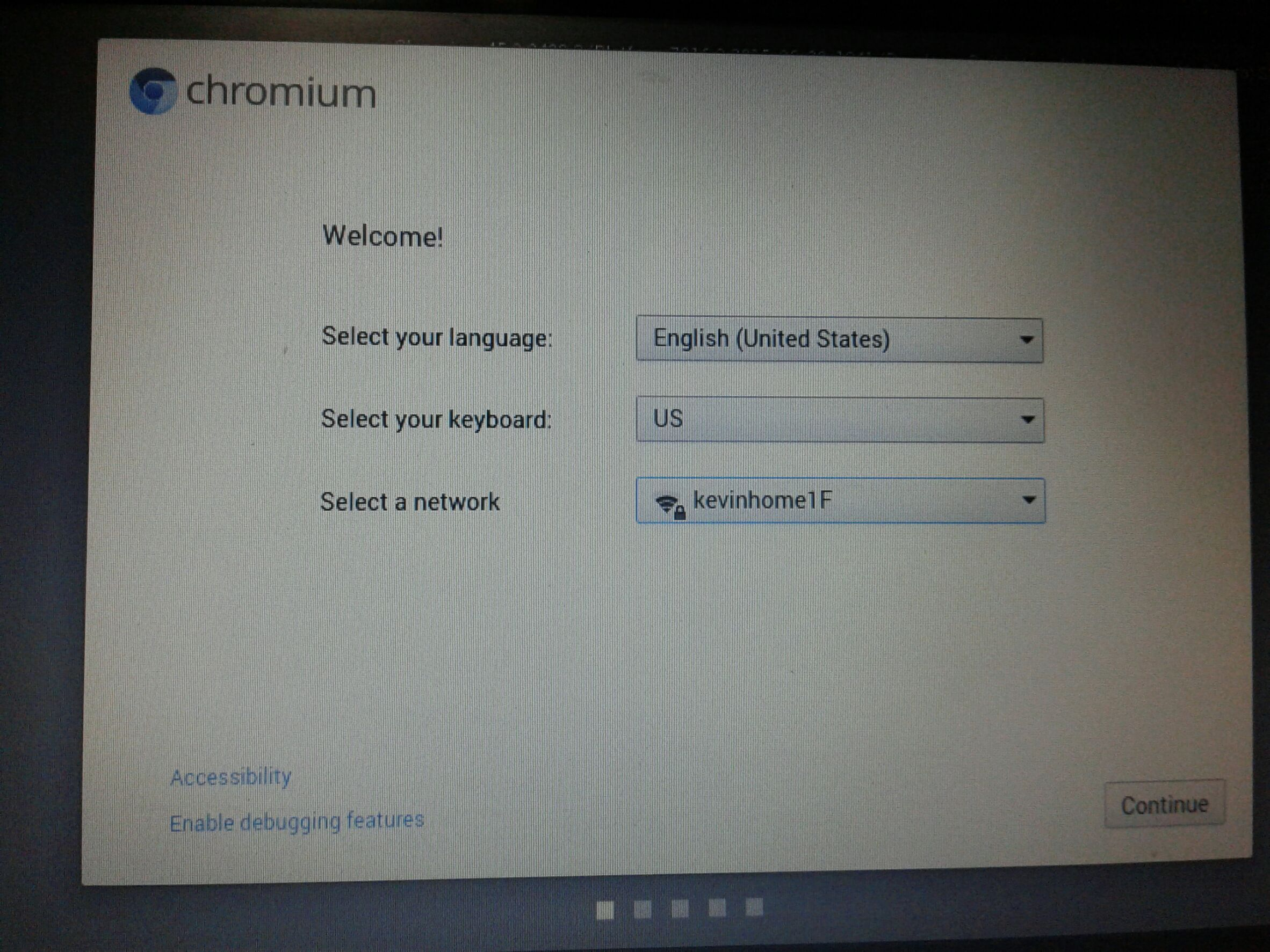 CHROME OS安裝設定主畫面