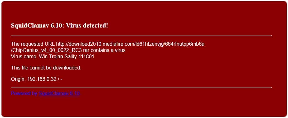 pfsense主動阻擋病毒畫面